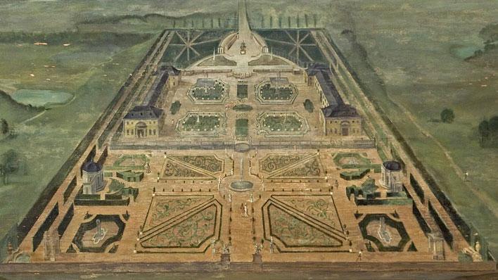 Residenzschloss Ludwigsburg, Lambrisbild im Rittersaal, Schloss Weikersheim; Foto: Staatliche Schlösser und Gärten Baden-Württemberg, Arnim Weischer