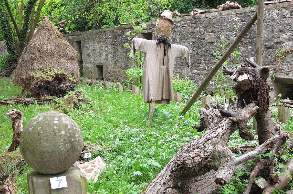 Der Alchemie- und Hexengarten von Schloss Weikersheim; Foto: Staatliche Schlösser und Gärten Baden-Württemberg, Peter Kessler