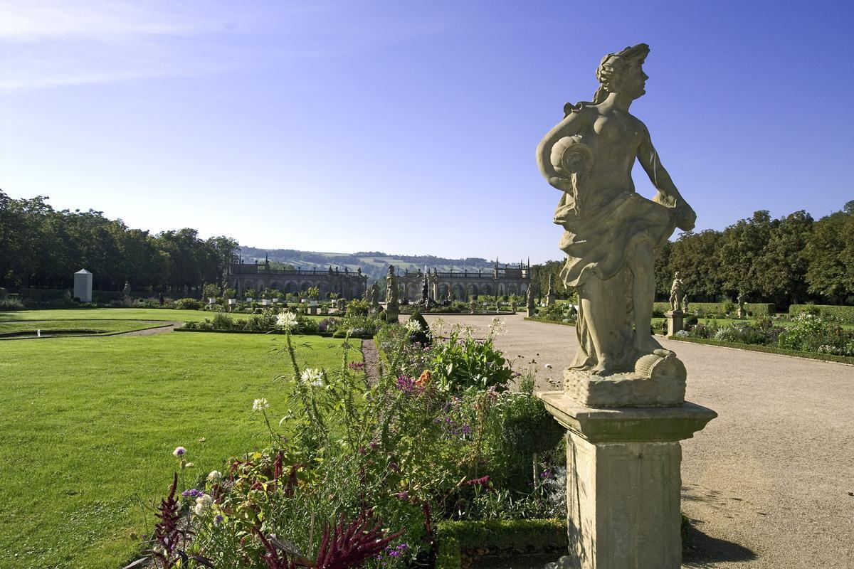 Personifikation des Wassers, Statue, Schlossgarten Weikersheim