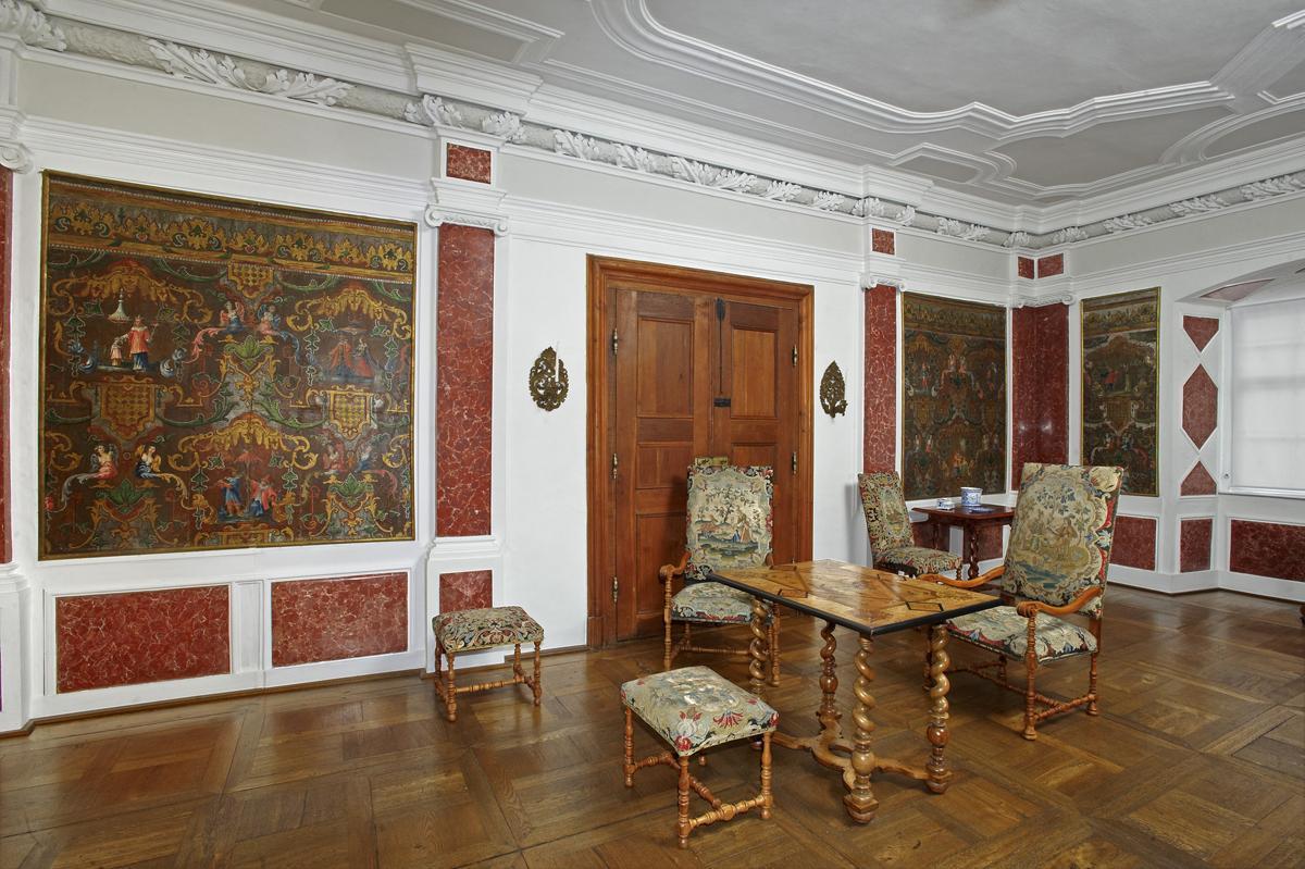 Appartement von Graf Carl Ludwig, Schloss Weikersheim; Foto: Staatliche Schlösser und Gärten Baden-Württemberg, Andrea Rachele
