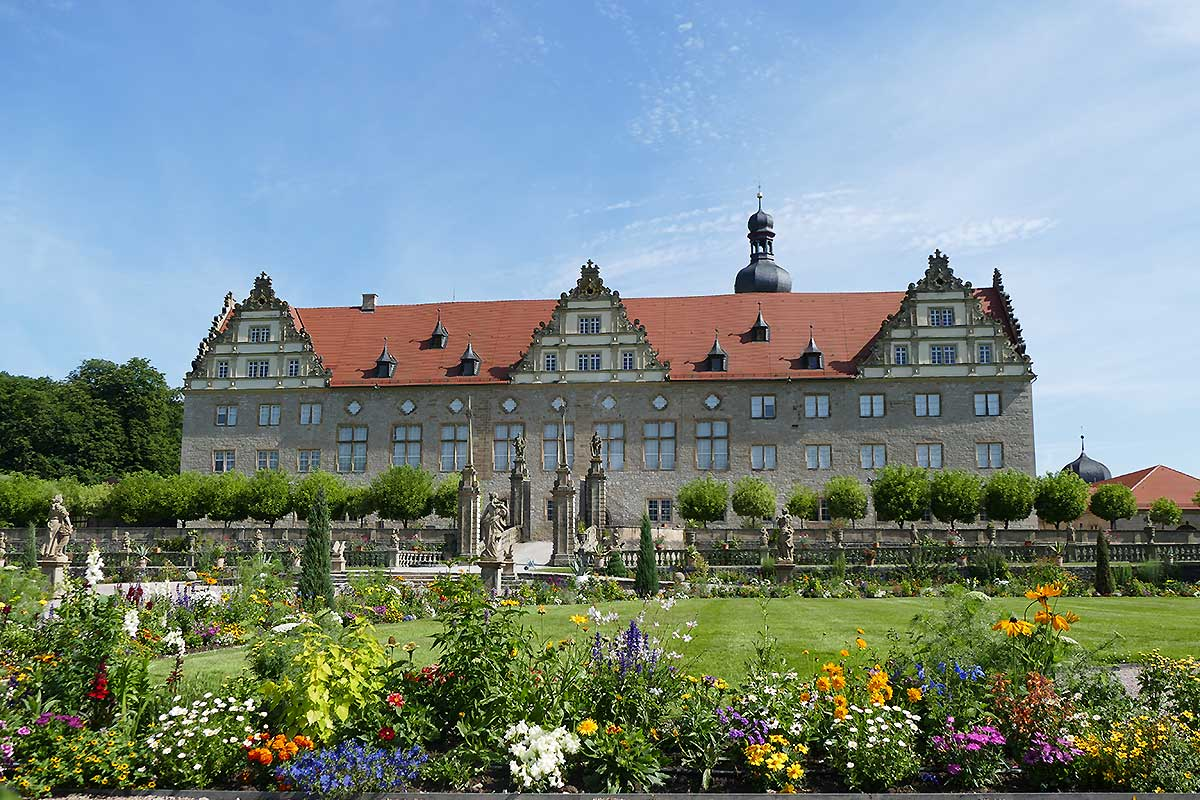 Rabatte im Weikersheimer Schlossgarten am 8. Juli 2016; Foto: Staatliche Schlösser und Gärten Baden-Württemberg, Sonja Wünsch