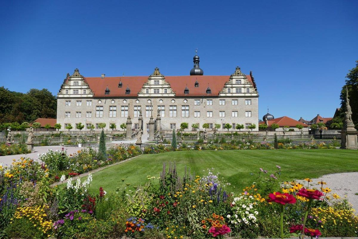 Rabatte im Weikersheimer Schlossgarten am 26. August 2016; Foto: Staatliche Schlösser und Gärten Baden-Württemberg, Sonja Wünsch