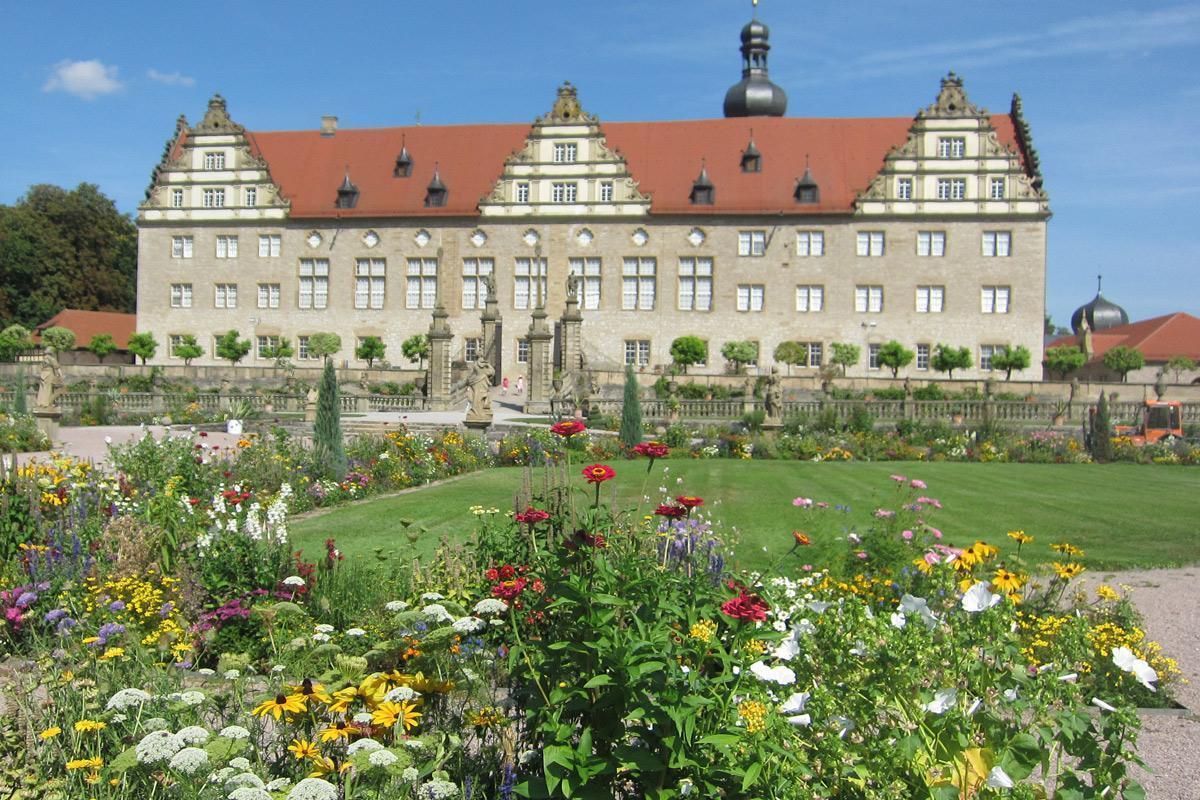 Rabatte im Weikersheimer Schlossgarten am 2. September 2016; Foto: Staatliche Schlösser und Gärten Baden-Württemberg, Monika Menth