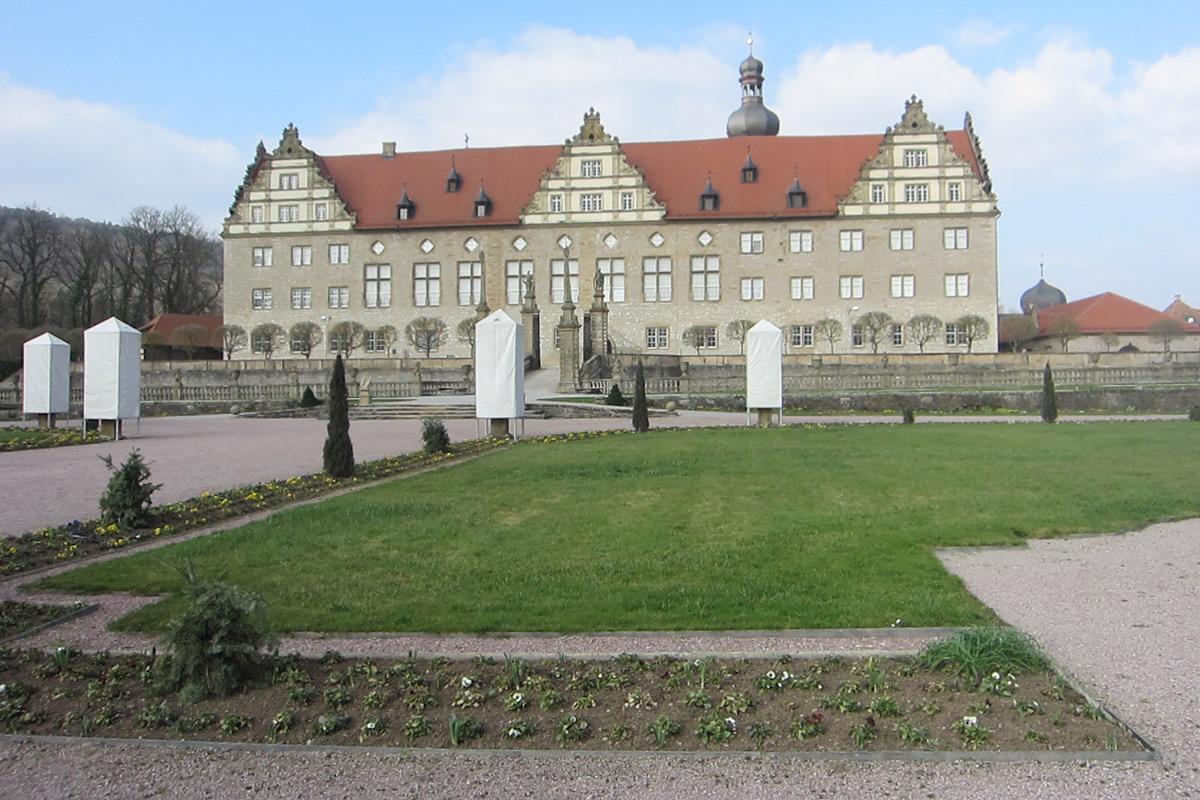 Eine Rabatte im Weikersheimer Schlossgarten am 11. März 2016; Foto: Staatliche Schlösser und Gärten Baden-Württemberg, Sonja Wünsch