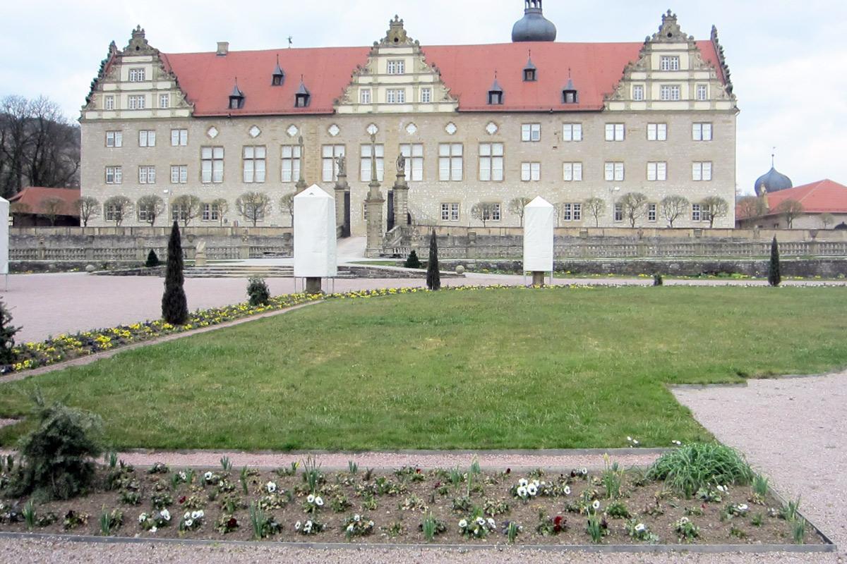 Eine Rabatte im Weikersheimer Schlossgarten am 24. März 2016; Foto: Staatliche Schlösser und Gärten Baden-Württemberg, Sonja Wünsch