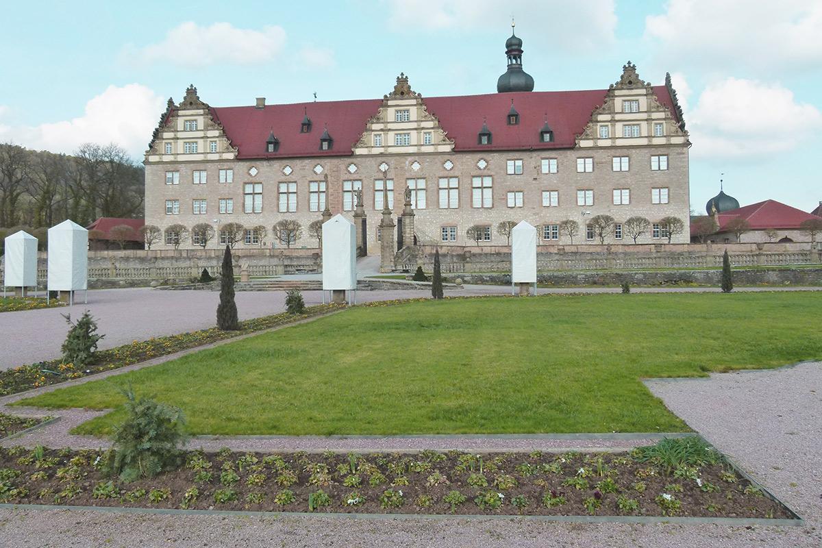 Eine Rabatte im Weikersheimer Schlossgarten am 26. Februar 2016;  Foto: Staatliche Schlösser und Gärten Baden-Württemberg, Sonja Wünsch