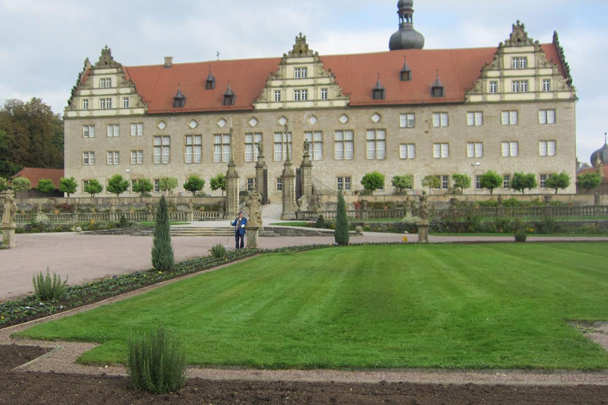 Rabatte im Weikersheimer Schlossgarten am 14. Oktober 2016; Foto: Staatliche Schlösser und Gärten Baden-Württemberg, Monika Menth