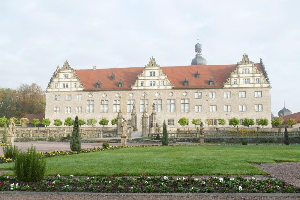 Rabatte im Weikersheimer Schlossgarten am 28. Oktober 2016