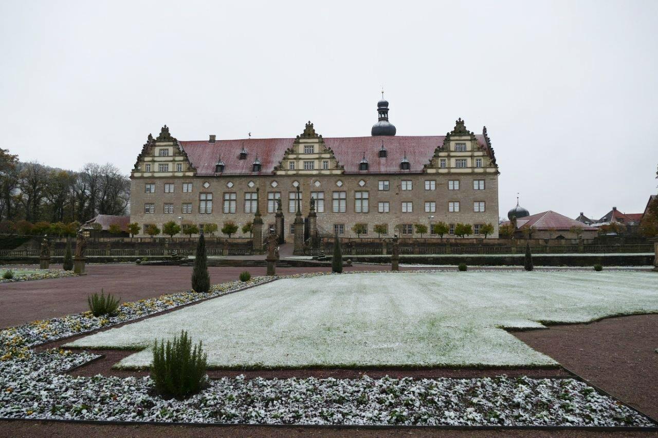 Rabatte im Weikersheimer Schlossgarten am 11. November 2016; Foto: Staatliche Schlösser und Gärten Baden-Württemberg, Sonja Wünsch