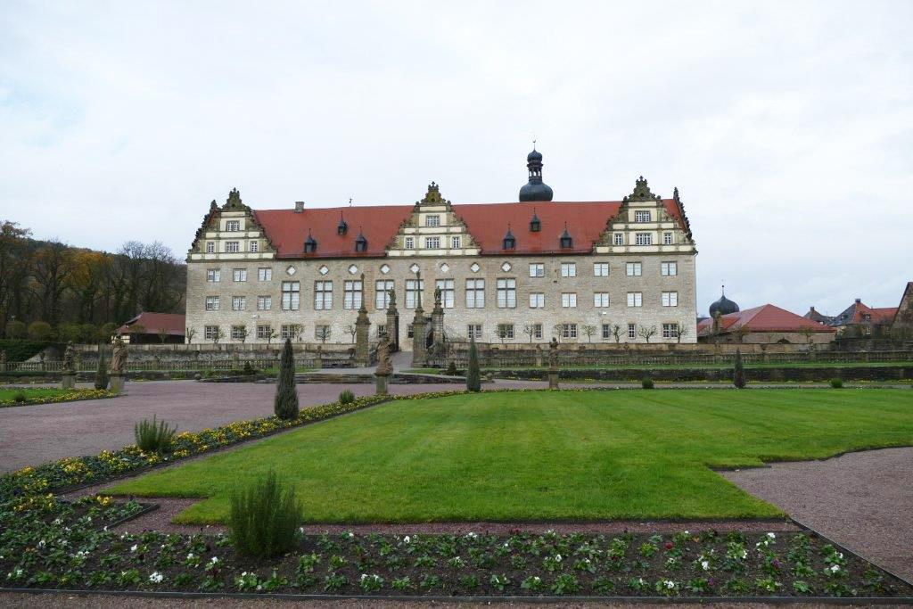 Rabatte im Weikersheimer Schlossgarten am 18. November 2016