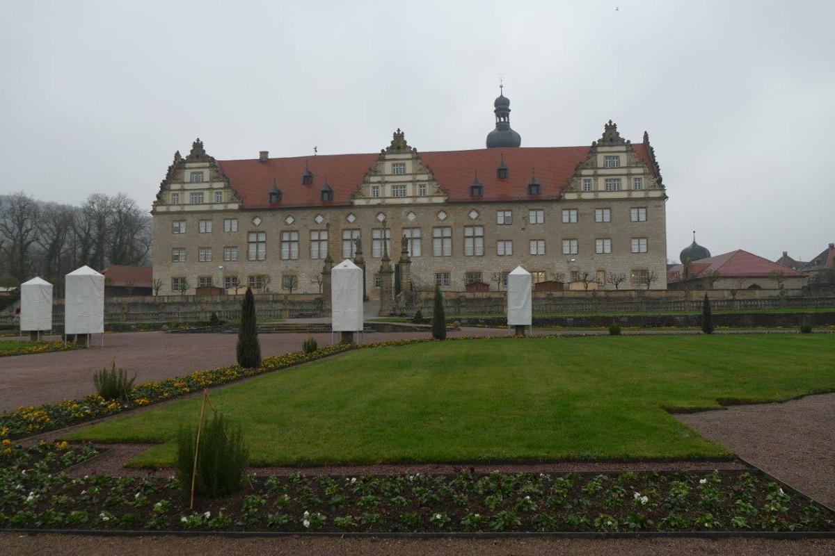 Rabatte im Weikersheimer Schlossgarten am 25. November 2016; Foto: Staatliche Schlösser und Gärten Baden-Württemberg, Sonja Wünsch