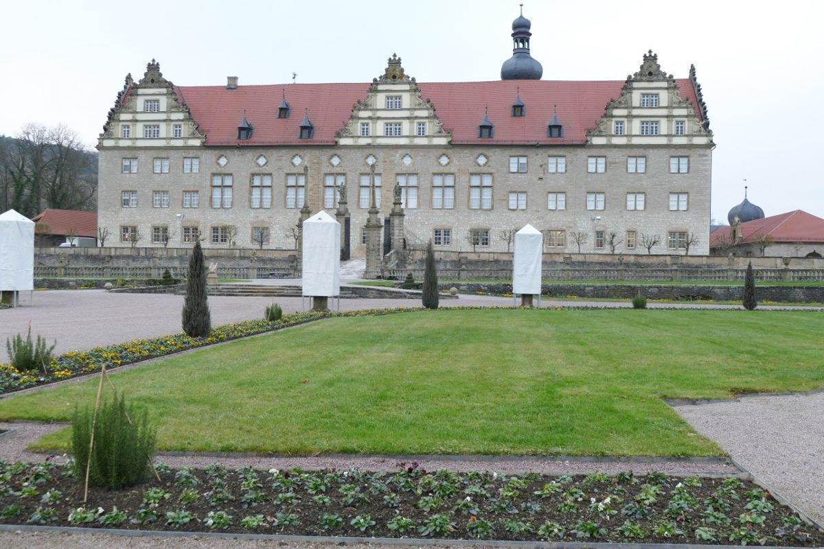 Rabatte im Weikersheimer Schlossgarten am 16. Dezember 2016; Foto: Staatliche Schlösser und Gärten Baden-Württemberg, Sonja Wünsch