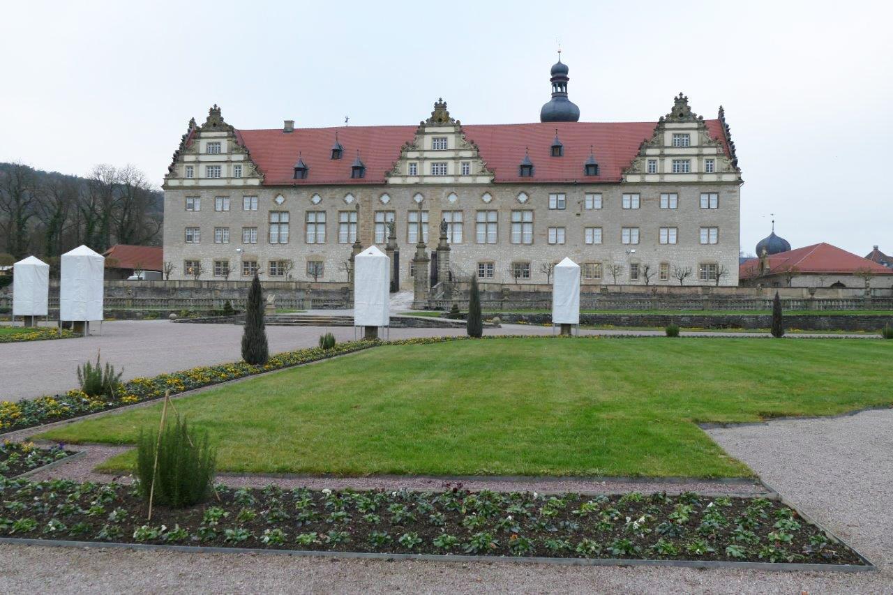 Rabatte im Weikersheimer Schlossgarten am 9. Dezember 2016; Foto: Staatliche Schlösser und Gärten Baden-Württemberg, Sonja Wünsch
