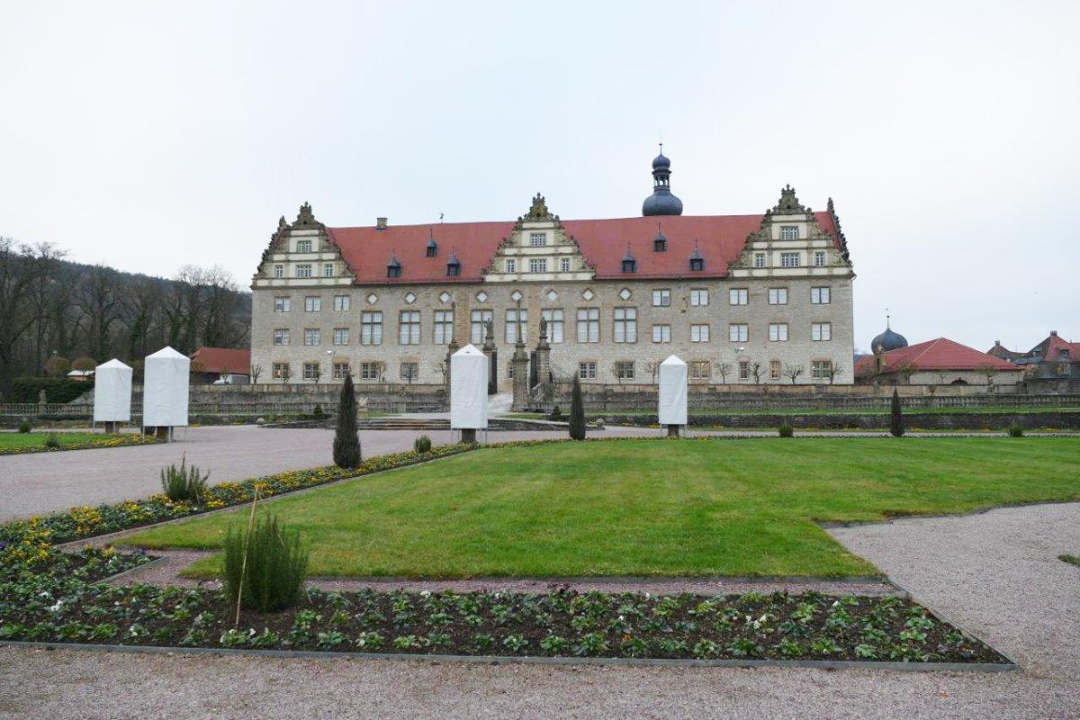 Rabatte im Weikersheimer Schlossgarten am 2. Dezember 2016; Foto: Staatliche Schlösser und Gärten Baden-Württemberg, Sonja Wünsch
