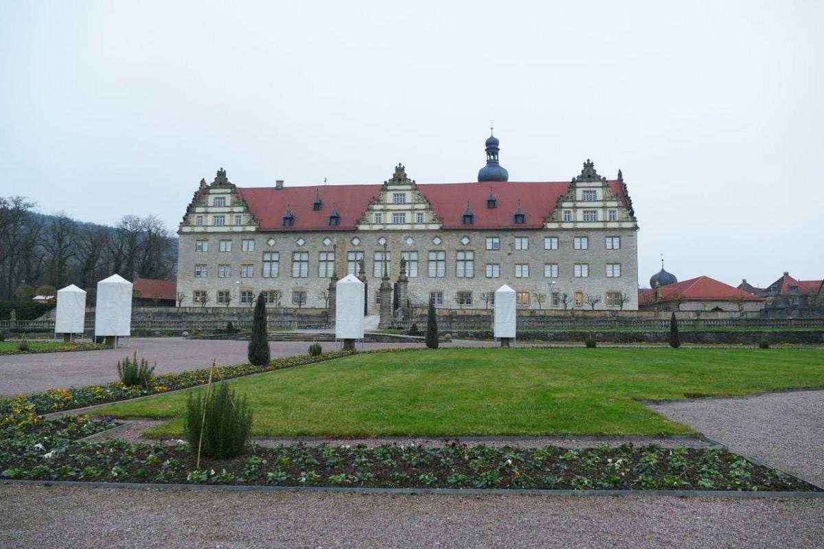 Rabatte im Weikersheimer Schlossgarten am 23. Dezember 2016; Foto: Staatliche Schlösser und Gärten Baden-Württemberg, Sonja Wünsch