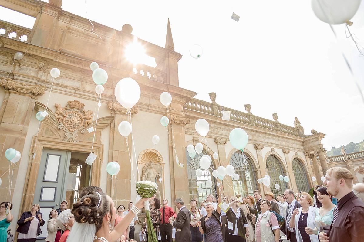 Schloss Weikersheim, Hochzeit von Jennifer und Robert Tofan; Foto: Familie Jennifer und Robert Tofan