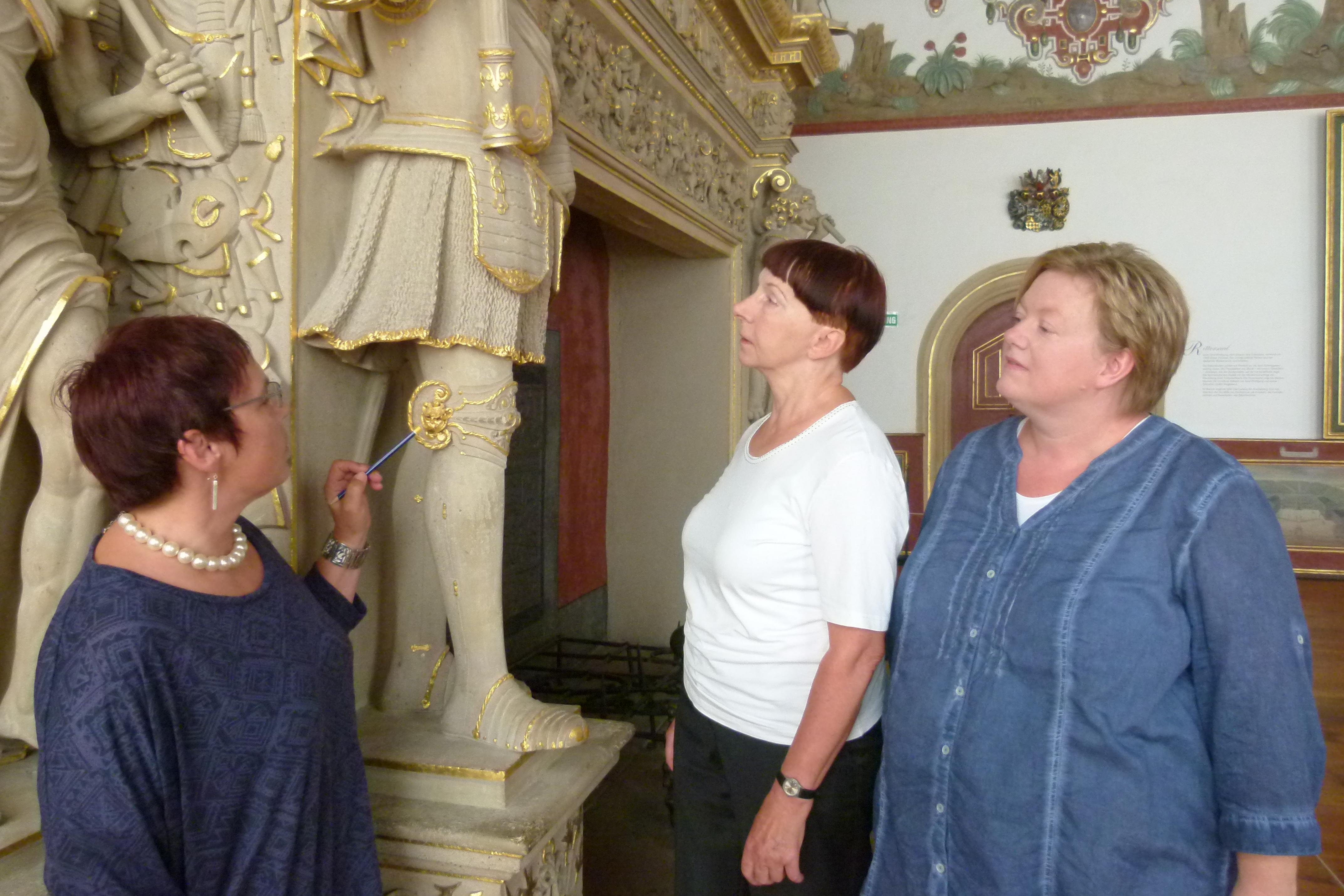 Schlossteam bei der Entwicklung einer neuen Führung; Foto: Staatliche Schlösser und Gärten Baden-Württemberg, Sonja Wünsch