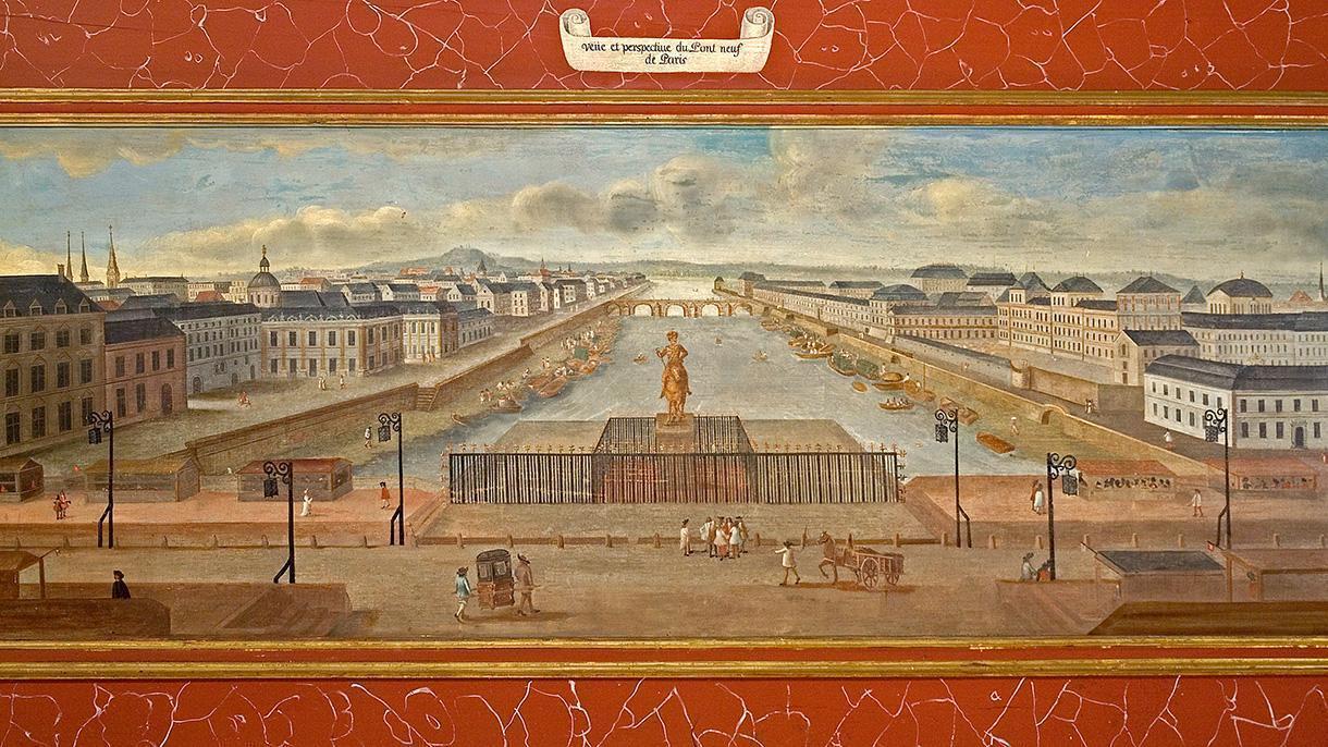 Schloss Weikersheim, Rittersaal, Detail aus Lambrisbild; Foto: Staatliche Schlösser und Gärten Baden-Württemberg, Arnim Weischer