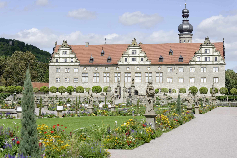 Außenansicht von Schloss Weikersheim; Foto: Staatliche Schlösser und Gärten Baden-Württemberg, Niels Schubert