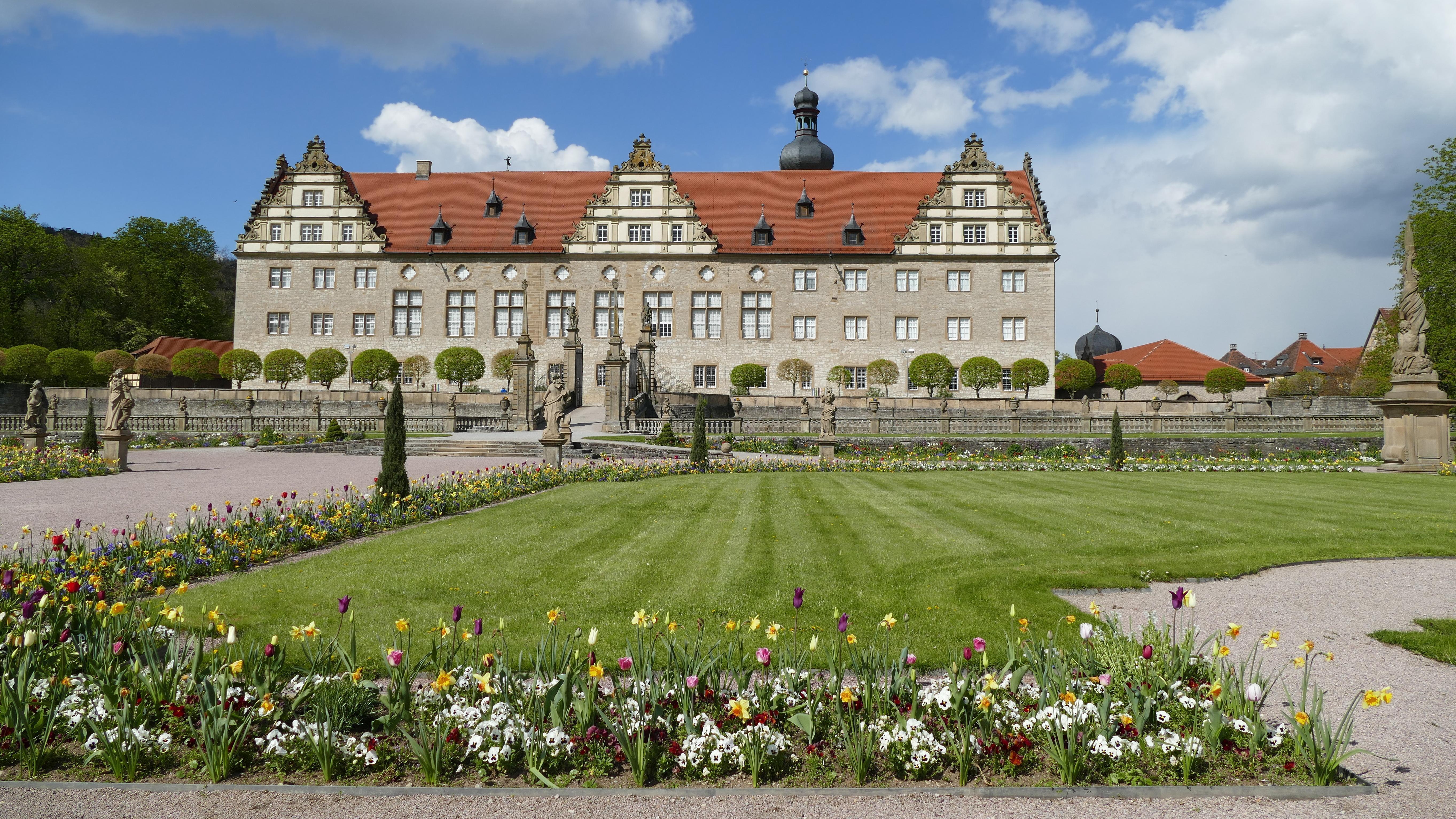Schloss Weikersheim, Schlossgarten im Frühling; Foto: Staatliche Schlösser und Gärten Baden-Württemberg, Sonja Wünsch