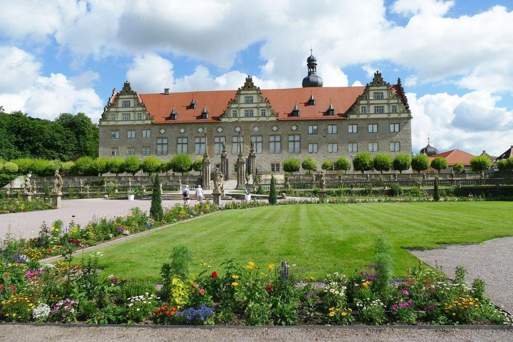 Rabatte im Weikersheimer Schlossgarten am 24. Juni 2016