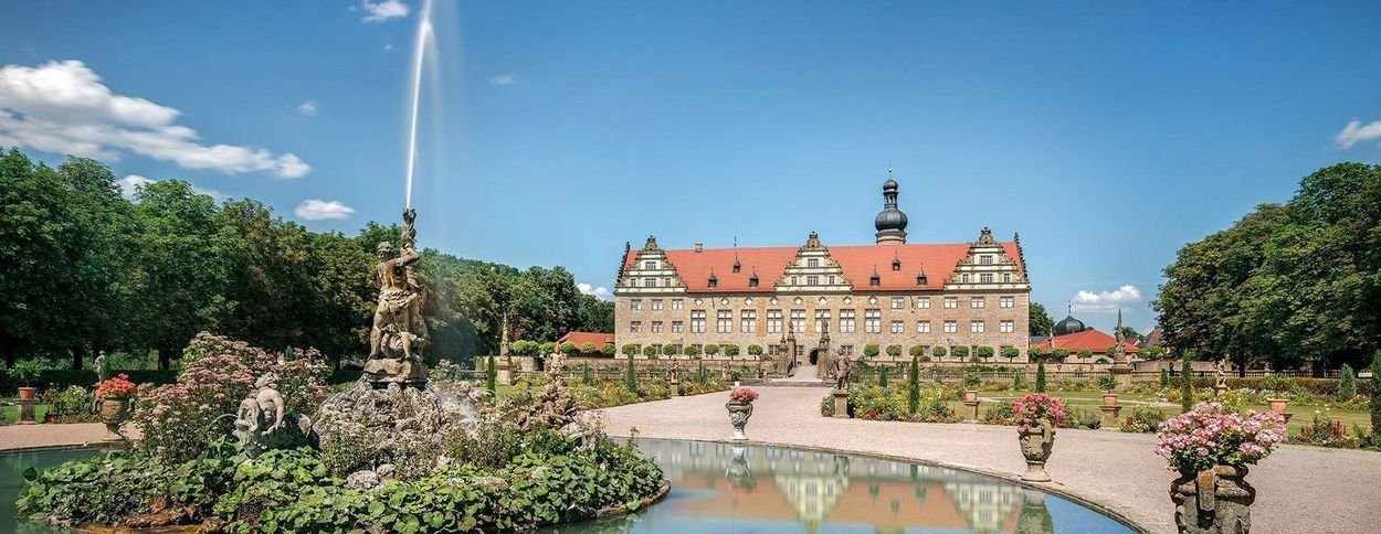 Weikersheim Palace, view of the palace from the gardens
