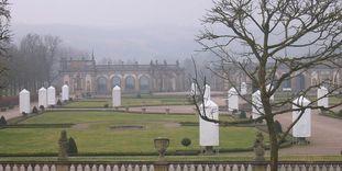 Schloss und Schlossgarten Weikersheim, Schlossgarten im Winter