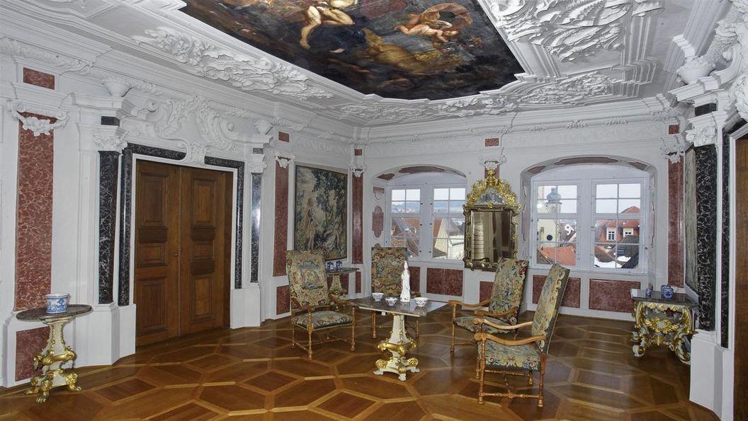 Audienzzimmer des Grafen, Schloss Weikersheim; Foto: Staatliche Schlösser und Gärten Baden-Württemberg, Andrea Rachele