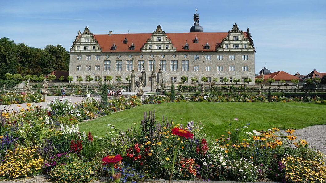 Rabatte im Weikersheimer Schlossgarten am 12. August 2016