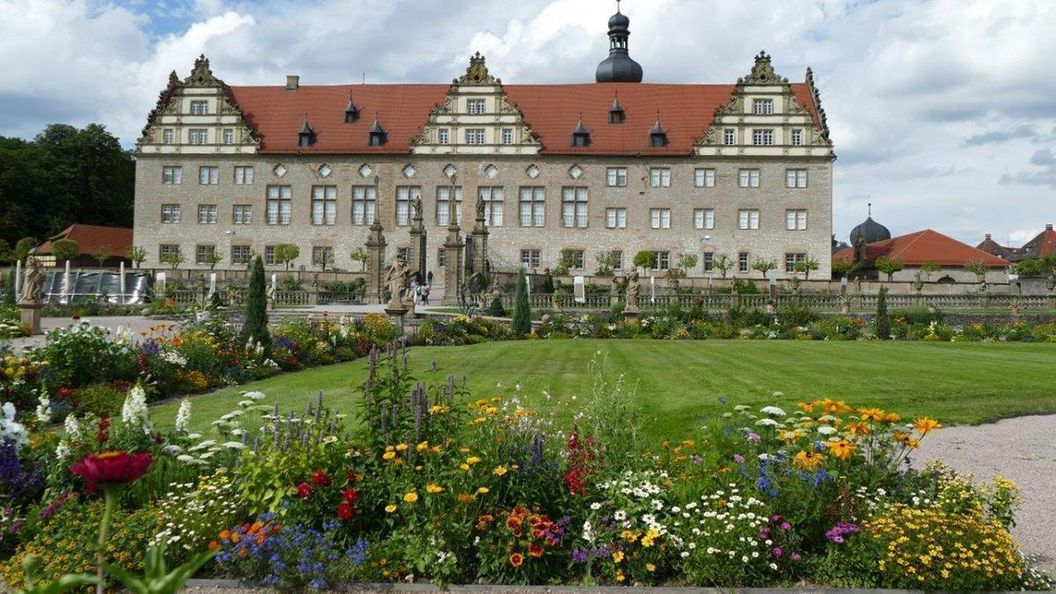 Rabatte im Weikersheimer Schlossgarten am 29. Juli 2016
