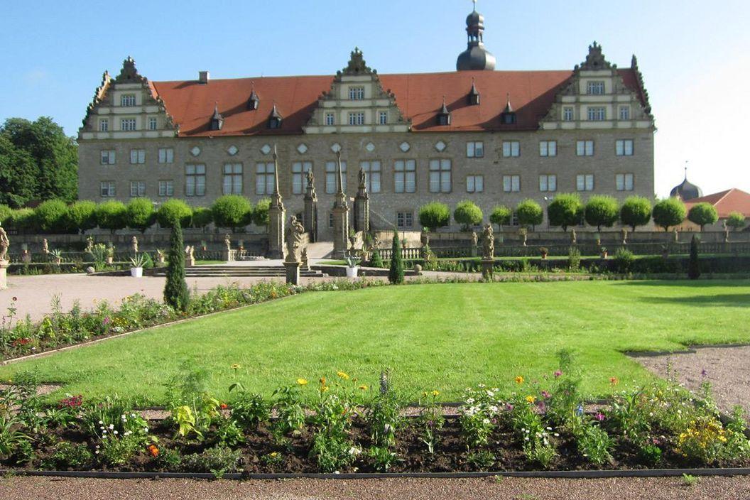 Rabatte im Weikersheimer Schlossgarten am 10. Juni 2016