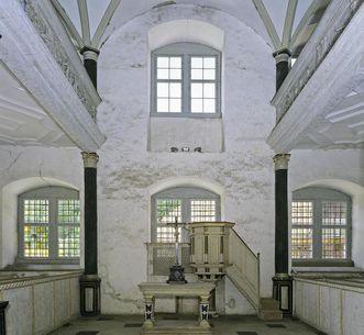 Blick in den Kirchenraum der Schlosskapelle Weikersheim; Foto: Staatliche Schlösser und Gärten Baden-Württemberg, Arnim Weischer