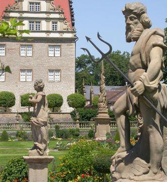 Neptunfigur, Schlossgarten Weikersheim