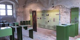 """Raum der Ausstellung """"Wasserkunst und Götterreigen"""""""