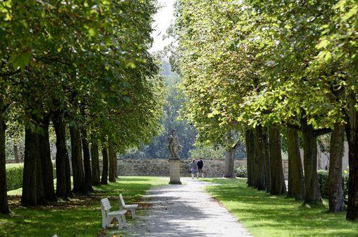 Allee am Boskettgarten von Schloss Weikersheim; Foto: Staatliche Schlösser und Gärten Baden-Württemberg, Niels Schubert