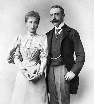 Prinzessin Alexandra von Sachsen-Coburg Gotha und Prinz Ernst II.; Foto: Royal Collection, Eduard Uhlenhuth