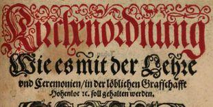 Ausschnitt aus dem Titelbild der Kirchenordnung