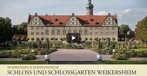"""Startbildschirm des Filmes """"Schloss und Schlossgarten Weikersheim: Informationen in Gebärdensprache"""""""