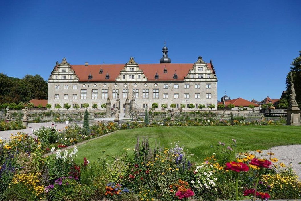 Rabatte im Weikersheimer Schlossgarten am 26. August 2016