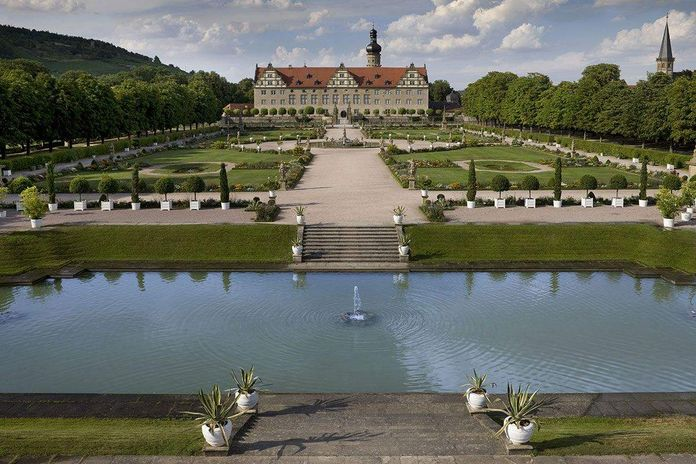 Weikersheim Palace and Gardens, Aerial view