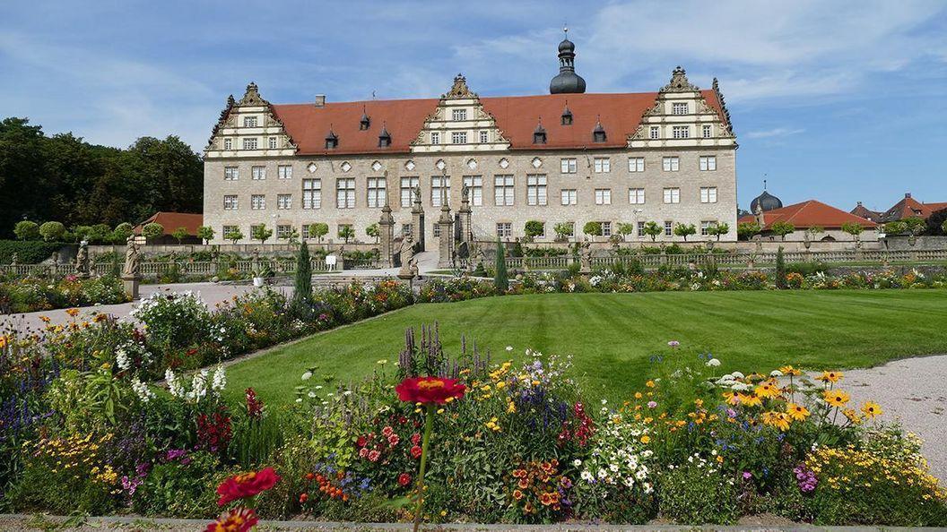 Rabatte im Weikersheimer Schlossgarten am 19. August 2016
