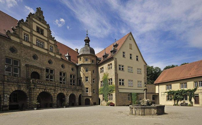 Weikersheim Palace, View of the inner courtyard