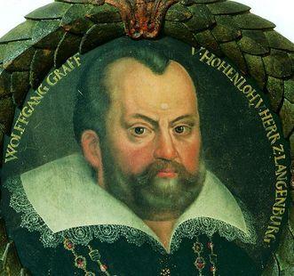 Portrait des Grafen Wolfgang II. von Hohenlohe; Foto: Hohenlohe-Zentralarchiv, Neuenstein