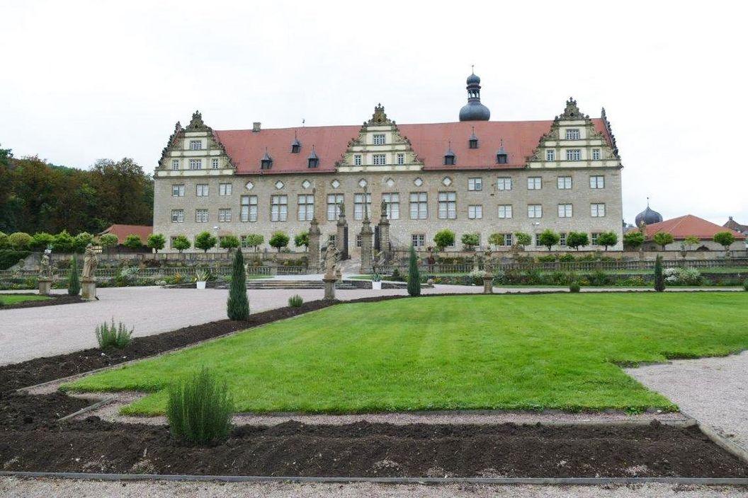 Rabatte im Weikersheimer Schlossgarten am 7. Oktober 2016