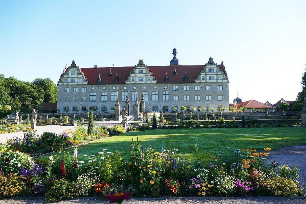 Rabatte im Weikersheimer Schlossgarten am 15. Juli 2016