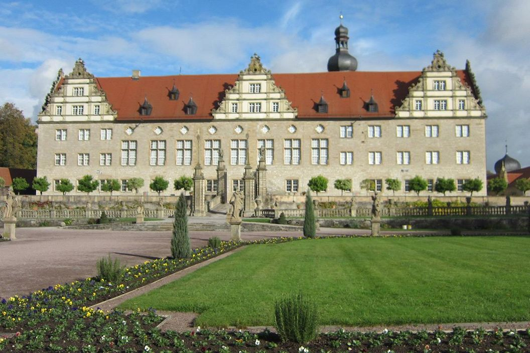 Rabatte im Weikersheimer Schlossgarten am 21. Oktober 2016