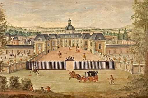 Menagerie in Versailles, Lambrisbild im Rittersaal, Schloss Weikersheim