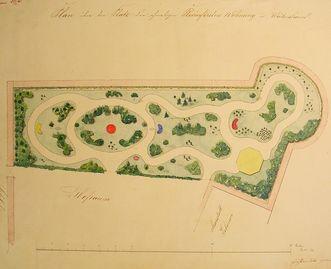 Historischer Entwurfsplan Rosengarten