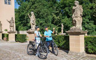 Schloss Weikersheim, Fahrradfahrer