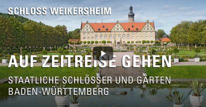 """Startbildschirm des Filmes """"Zeitreise mit Michael Hörrmann: Schloss Schloss und Schlossgarten Weikersheim"""""""